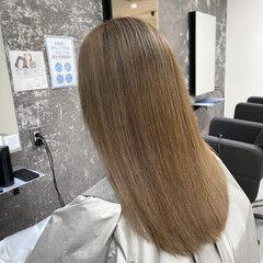 ストリート ママ 外国人風カラー ベージュ ヘアスタイルや髪型の写真・画像
