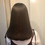 セミロング エレガント 艶髪 うる艶カラー