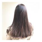 ストレート 艶髪 ナチュラル 透明感カラー