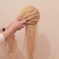 簡単 お団子 ヘアアレンジ ロング ヘアスタイルや髪型の写真・画像