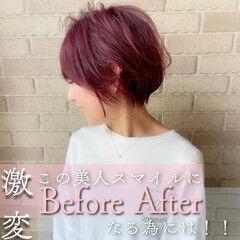 ショートボブ 切りっぱなしボブ 韓国ヘア ショートヘア ヘアスタイルや髪型の写真・画像