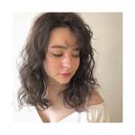 柔らかパーマ フェミニン ハイライト 巻き髪