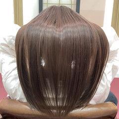 セミロング 艶髪 ナチュラル 髪質改善トリートメント ヘアスタイルや髪型の写真・画像