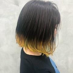 グラデーションカラー ブリーチ必須 ストリート ヘアマニキュア ヘアスタイルや髪型の写真・画像