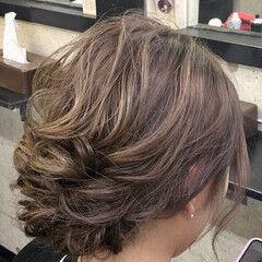卒業式 アップスタイル 結婚式 ヘアセット ヘアスタイルや髪型の写真・画像
