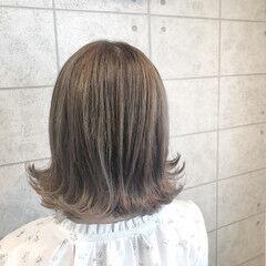 イルミナカラー 透明感カラー ヌーディベージュ ブリーチカラー ヘアスタイルや髪型の写真・画像
