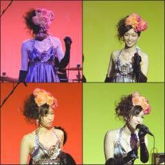 花 ヘアアレンジ リーゼント風 アップスタイル ヘアスタイルや髪型の写真・画像