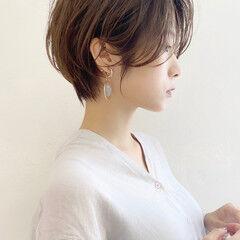 ショート ひし形シルエット ショートヘア ハンサムショート ヘアスタイルや髪型の写真・画像
