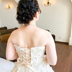 アップ ヘアアレンジ フェミニン ヘアセット ヘアスタイルや髪型の写真・画像