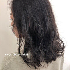 巻き髪 ナチュラル 透明感カラー コテ巻き ヘアスタイルや髪型の写真・画像