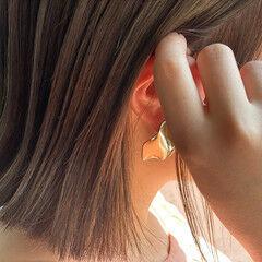 濡れ髪スタイル ハイトーンカラー 3Dハイライト ボブ ヘアスタイルや髪型の写真・画像