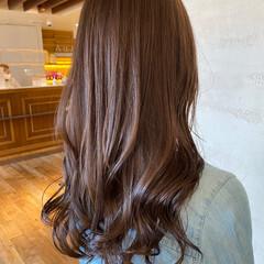セミロング 髪質改善トリートメント 美髪 ナチュラル ヘアスタイルや髪型の写真・画像