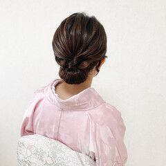 和装ヘア 着物 訪問着 留袖 ヘアスタイルや髪型の写真・画像