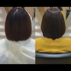 髪質改善カラー ショートボブ 髪質改善トリートメント 髪質改善 ヘアスタイルや髪型の写真・画像