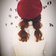 セミロング ピンクアッシュ ヘアアレンジ 簡単ヘアアレンジ ヘアスタイルや髪型の写真・画像