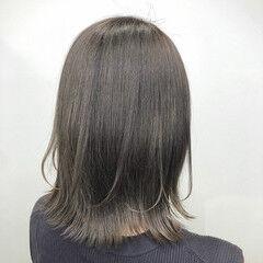 イメチェン 透明感カラー ボブ ブリーチ ヘアスタイルや髪型の写真・画像