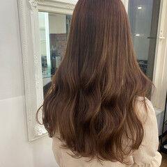 ショコラブラウン ガーリー ブラウンベージュ ベージュ ヘアスタイルや髪型の写真・画像