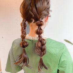 セルフヘアアレンジ ヘアアレンジ セミロング 簡単ヘアアレンジ ヘアスタイルや髪型の写真・画像