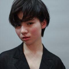 マッシュ 毛先パーマ ショート ショートボブ ヘアスタイルや髪型の写真・画像
