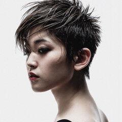 クリエイティブ ベリーショート ショート ハンサムショート ヘアスタイルや髪型の写真・画像