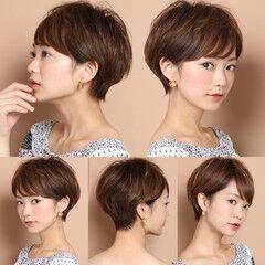 ナチュラル マッシュショート 田丸麻紀 ショート ヘアスタイルや髪型の写真・画像