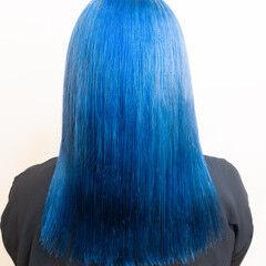 ミディアム ストリート ブリーチ ハイトーンカラー ヘアスタイルや髪型の写真・画像