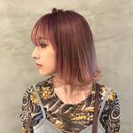 グラデーションカラー 女子力 モード ピンク