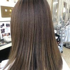 美髪 トリートメント ナチュラル ロング ヘアスタイルや髪型の写真・画像
