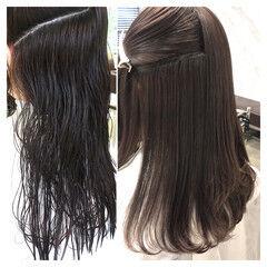縮毛矯正 オフィス パーマ リラックス ヘアスタイルや髪型の写真・画像