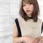 ミディアム アンニュイほつれヘア パーマ デート