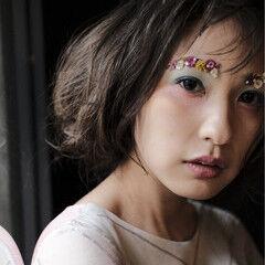 花 ブライダル ヘアメイク ヘアアレンジ ヘアスタイルや髪型の写真・画像
