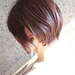 ショート マッシュMIX 大人グラボブ エレガント ヘアスタイルや髪型の写真・画像