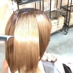 艶髪 美髪 ボブ ナチュラル ヘアスタイルや髪型の写真・画像
