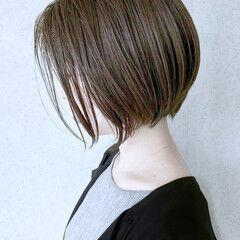 丸みショート 大人かわいい ショートボブ ボブ ヘアスタイルや髪型の写真・画像