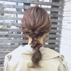 ナチュラル可愛い 編みおろし 大人かわいい 編みおろしヘア ヘアスタイルや髪型の写真・画像