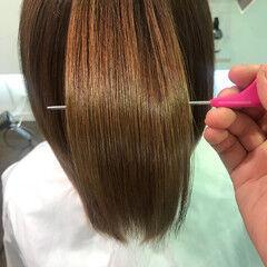 ツヤ髪 ミディアム サラサラ ナチュラル ヘアスタイルや髪型の写真・画像