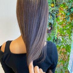 髪質改善トリートメント ラベンダーグレージュ シルバーグレージュ ロング ヘアスタイルや髪型の写真・画像