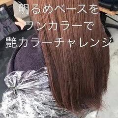 イルミナカラー ガーリー ロング ブリーチなし ヘアスタイルや髪型の写真・画像
