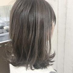 ボブ ミルクティー 外ハネ ナチュラル ヘアスタイルや髪型の写真・画像