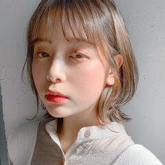 外はね 大人かわいい レイヤーボブ フェミニン ヘアスタイルや髪型の写真・画像