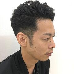 ストリート ショート かき上げ前髪 サイドアップ ヘアスタイルや髪型の写真・画像