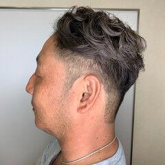 シルバー エレガント ショート ブリーチ ヘアスタイルや髪型の写真・画像