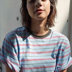 ウルフ ウルフパーマ ウルフカット ミディアム ヘアスタイルや髪型の写真・画像