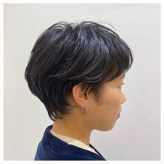 ショートボブ ショートパーマ ハンサムショート ショートアレンジ ヘアスタイルや髪型の写真・画像