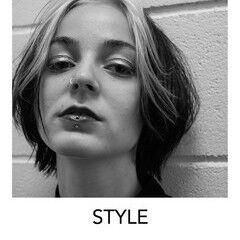 ブリーチオンカラー ボブ ホワイトカラー デザインカラー ヘアスタイルや髪型の写真・画像