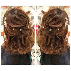 ナチュラル ヘアアレンジ 花嫁 成人式ヘア ヘアスタイルや髪型の写真・画像