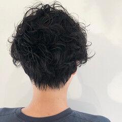 前下がり ストリート 黒髪 ショート ヘアスタイルや髪型の写真・画像