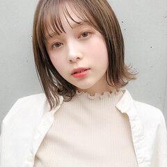 ひし形シルエット ガーリー ミニボブ 外ハネ ヘアスタイルや髪型の写真・画像