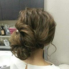ナチュラル ロング 結婚式 女子力 ヘアスタイルや髪型の写真・画像