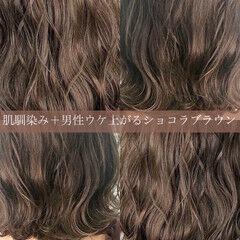 ナチュラル ミディアム 切りっぱなしボブ モテ髪 ヘアスタイルや髪型の写真・画像